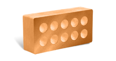 Кирпич стандартный гладкий пустотелый терракот