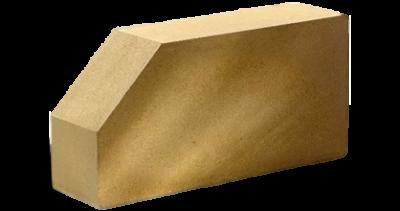 Кирпич стандартный полнотелый гладкий  угловой желтый