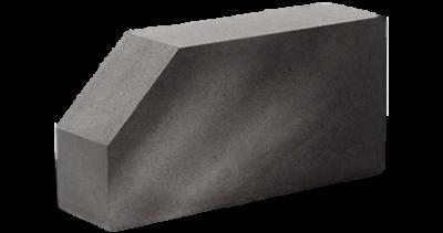 Кирпич стандартный полнотелый гладкий угловой серый