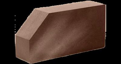 Кирпич стандартный полнотелый гладкий угловой шоколад, бордо