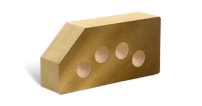 Кирпич стандартный гладкий пустотелый угловой желтый