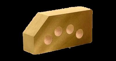 Кирпич стандартный гладкий пустотелый угловой  сл.кость