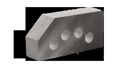 Кирпич стандартный гладкий пустотелый угловой серый