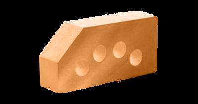 Кирпич стандартный гладкий пустотелый угловой терракот