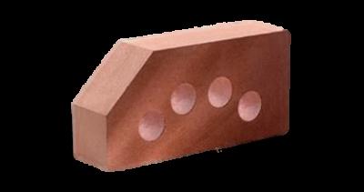 Кирпич стандартный гладкий пустотелый угловой красный