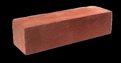 Кирпич узкий колотый/ гладкий красный