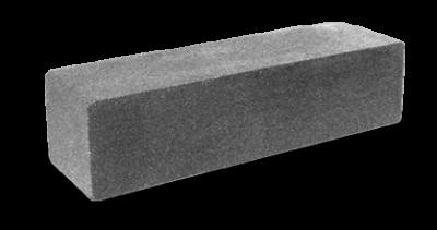 Кирпич узкий колотый/ гладкий серый