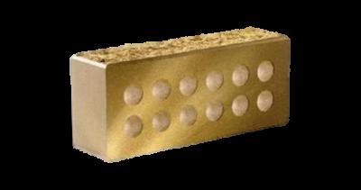 Кирпич стандартный колотый с.ф. пустотелый  желтый
