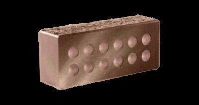Кирпич стандартный колотый с.ф. пустотелый  шоколад, бордо