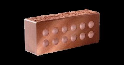 Кирпич стандартный колотый с.ф. пустотелый  красный