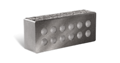 Кирпич стандартный колотый с.ф. пустотелый  серый