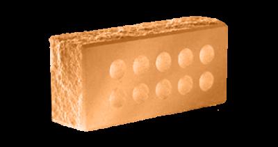 Кирпич стандартный пустотелый  колотый тычковый с.ф. терракот