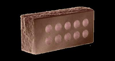 Кирпич стандартный  пустотелый  колотый тычковый с.ф. шоколад, бордо