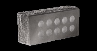 Кирпич стандартный пустотелый колотый тычковый с.ф. серый