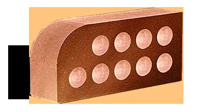 Кирпич фасонный МАЛЫЙ ПОЛУКРУГ красный/серый/желтый/сл.кость/шоколад/бордо/терракот