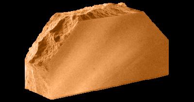 Кирпич стандартный полнотелый гладкий  Скала 2-х угловой   терракот