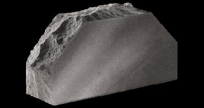 Кирпич стандартный полнотелый гладкий Скала 2-х угловой   серый