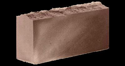 Кирпич стандартный полнотелый  Скала  шоколад, бордо