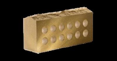 Кирпич стандартный   пустотелый Скала  желтый