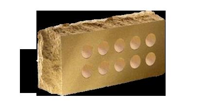 Кирпич стандартный   пустотелый Скала тычковый   желтый