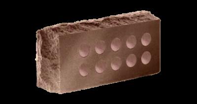 Кирпич стандартный  пустотелый  Скала тычковый  шоколад, бордо