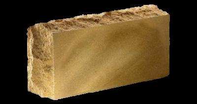 Кирпич стандартный полнотелый гладкий  Скала тычковый  желтый