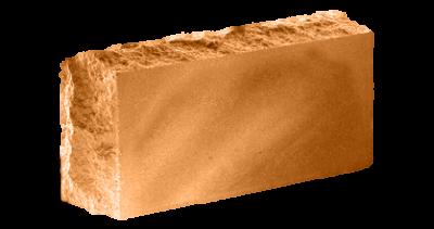 Кирпич стандартный полнотелый гладкий  Скала тычковый  терракот