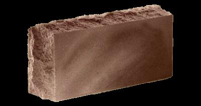 Кирпич стандартный полнотелый гладкий  Скала тычковый  шоколад, бордо