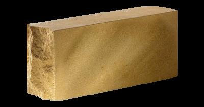 Кирпич стандартный полнотелый гладкий  тычковый   желтый