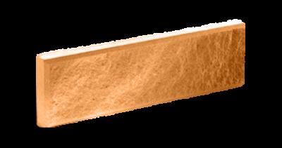 Кирпич тонкий колотый терракот с.ф.