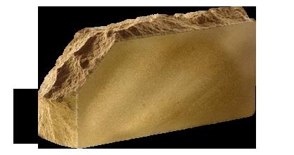 Кирпич стандартный полнотелый гладкий  Скала угловой тычковый  желтый