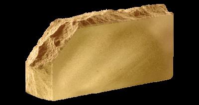 Кирпич стандартный полнотелый гладкий  Скала угловой тычковый сл.кость