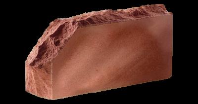Кирпич стандартный полнотелый Скала угловой тычковый  красный