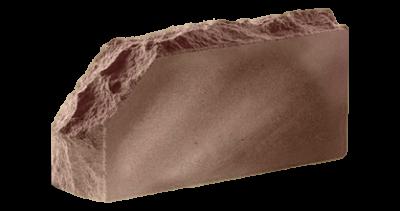 Кирпич стандартный полнотелый гладкий  Скала угловой тычковый  шоколад, бордо