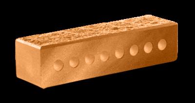 Кирпич узкий колотый пустотелый ф 60 терракот