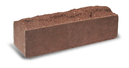 Кирпич узкий колотый Скала шоколад, бордо