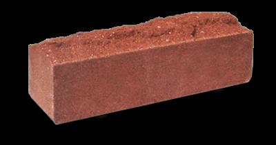 Кирпич узкий колотый Скала красный