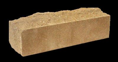Кирпич узкий колотый Скала  тычковый желтый