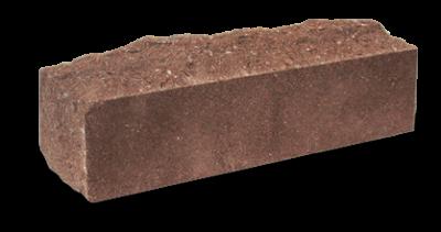 Кирпич узкий колотый Скала тычковый  шоколад, бордо