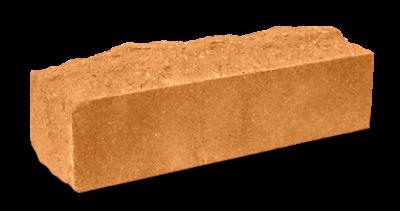 Кирпич узкий колотый Скала тычковый терракот