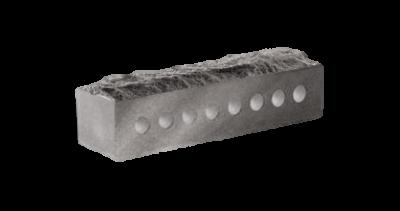 Кирпич узкий колотый Скала пустотелый серый
