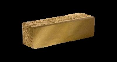 Кирпич узкий колотый тычковый желтый