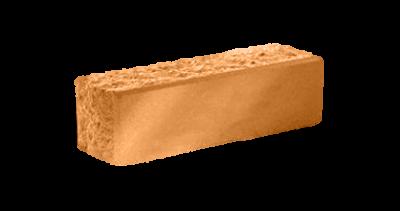 Кирпич узкий колотый тычковый терракот